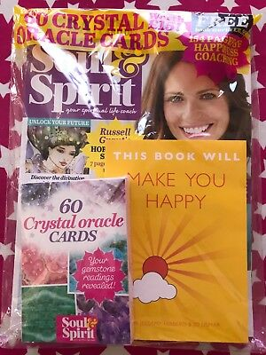 NEW Soul & Spirit Magazine Sept 2018 + Free Gifts 60 Oracle Cards + Happy Book