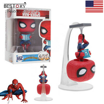 Funko Pops Spider-Man:Homecoming Figure With Book Vinyl Figure Gift Toy Model