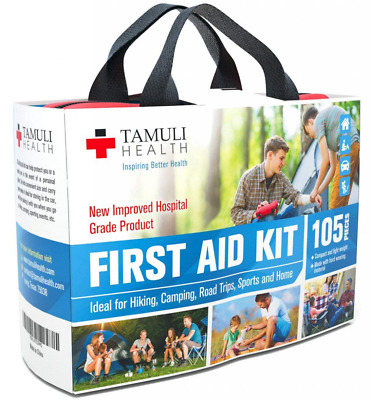 Health First Aid Kit Compact Complete Lightweight Emergency Bag For Car Travel