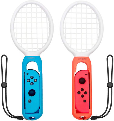 Nintendo Switch Mario Aces Joy Con Controller Tennis Racket One Pair Accessories
