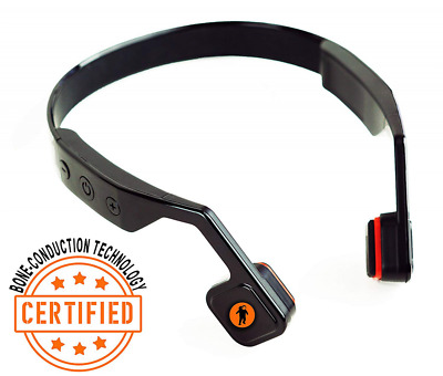 ALL-Terrain Bone Conductive Headphones Bluetooth controls Water Proof Black NEW