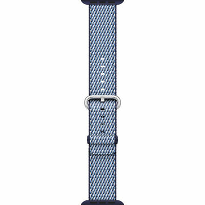 Genuine Apple Check Woven Nylon for Apple Watch 38mm (Midnight Blue) - VG No Box