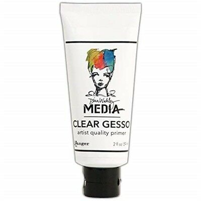 Clear Gesso Soft Gel Matte Medium 2oz - Oz Dina Wakley Media Tube