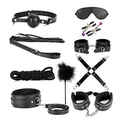 Adult Toys For Couples Sex Role Play King Bed Full Whip Restraining Cuffs Set