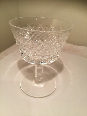 """Waterford Crystal ALANA Champagne Glass or Tall Sherbet,  4 1/4""""  Tall Mint Cond"""