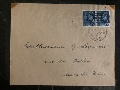 1940 Dunkirk Nord France Cover Local Issue German Cancel Local usage