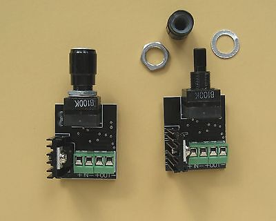 2 PWM DIMMER On/Off switches for 12v DC LED and panel lights 6 amp 72 watts  each