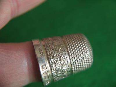 Superb Antique Hm Chester Pre War Solid Sterling Silver Thimble