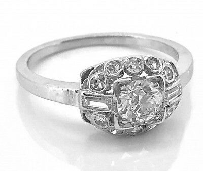 0.75 Ct Antique Art Deco Round Cut Vintage Engagement Ring 925 Sterling Silver