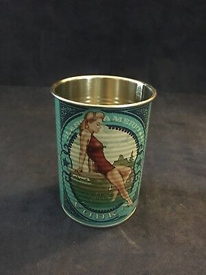 Deep Eddy Vodka Cup Blue Pin-Up Model Classic Tin New