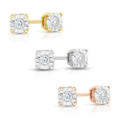 Natalia Drake Sterling Silver 1/10cttw Diamond Stud Earring For Women