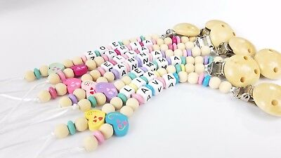 Pacifier clip Personalized binky holder Custom made Baby girl gift