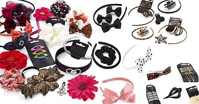 Wholesale Job lot Fashion Hair Accessories-mixed packs 12-60-Hair CLIPS BANDS
