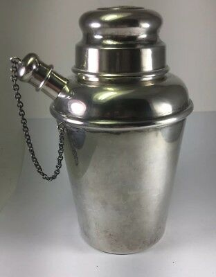 Antique 1939 SHREVE CO Sterling Silver Cocktail Shaker ' Charles Goodyear '