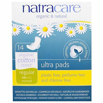 Natracare  Ultra Pads  Organic Cotton Cover  Regular  Normal  14 Pads