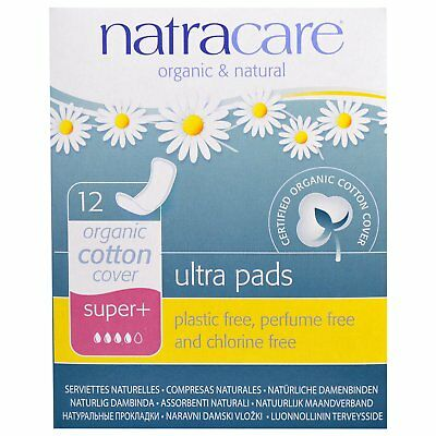 Natracare  Ultra Pads  Organic Cotton Cover  Super   12 Pads