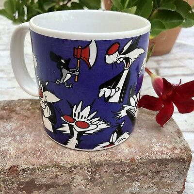 Sylvester The Cat Mug Applause ceramic coffee Cup looney tunes 1994 vintage VTG