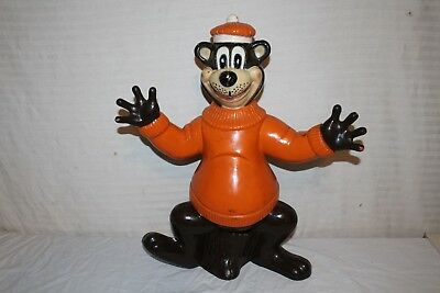 "Large 22"" Rare Vintage 1960's A&W Root Beer Bear Soda Pop Bank Restaurant Sign"