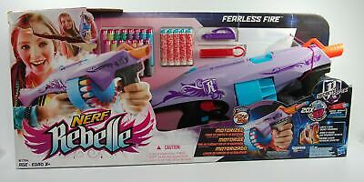 New Nerf Rebelle Secrets And Spies Fearless Fire Blaster Toy Gun B1704