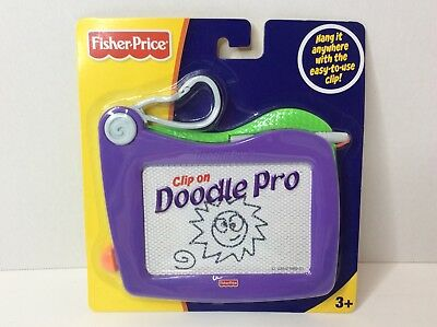 Fisher Price PURPLE Clip On Doodle Pro Magnetic Drawing Surface NEW