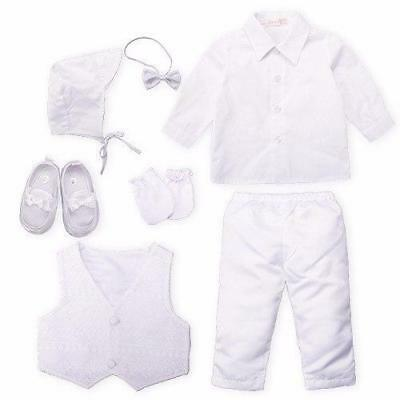 Baby Christening outfit Set of 5 White Suit christening Baptism Outfits