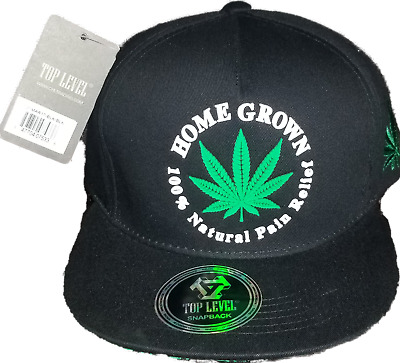 KUSH Weed Marijuana Cannabis Flat Brim Baseball Caps Embroidered Gifts 75050W90