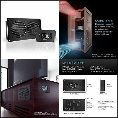 Quiet Cooling Fan System With Thermostat Control For Home Theater AV  Cabinets Home Theater Cabinet Cooling