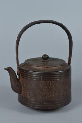 R2586: Japanese XF Iron rough surface TEA KETTLE Teapot Tetsubin Tea Ceremony