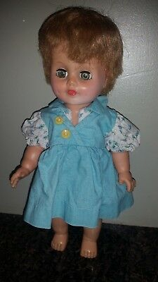 """Vintage EEGEE 10"""" Doll with Dimples & Open & Close Eyes dressed"""