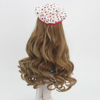 Brown Long Curly Hair Wig for 18inch American Girl Doll DIY Making & Repair