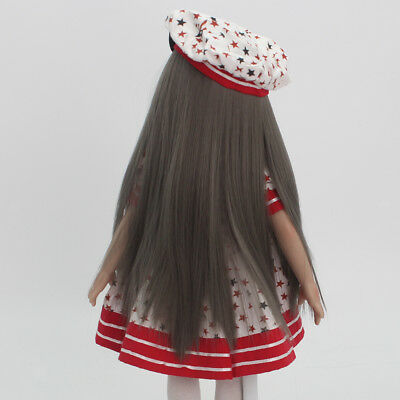 """Flaxen Straight Hair Wig for 18"""" American Girl Dolls Hairpiece Making Repair"""
