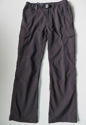 Japanese Brand Montbell Stretch Cargo Hiking Pants Taupe Petite Women Girls XS