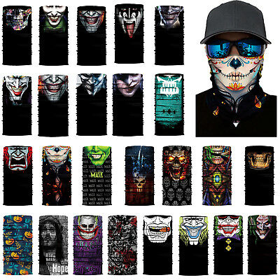 Bicycle Riding Motorcycle Clown Half Face Mask Outdoor Sports Balaclavas Scarf