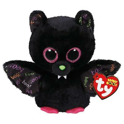 "TY Halloween Beanie Boos 6"" DART the Bat Animal Plush w/ MWMT's Heart Tags"