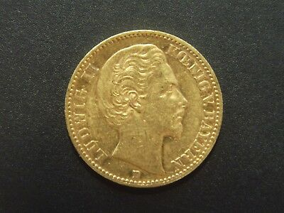 Bayern - 20 Mark - 1873 D - Ludwig II - Gold - ss - original - J.194