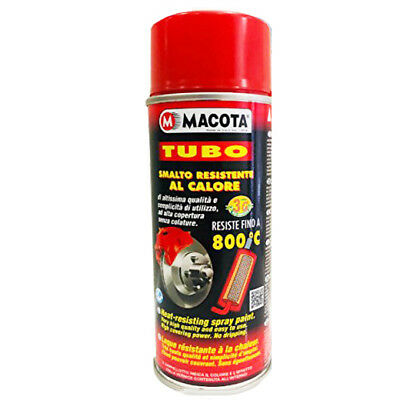 MACOTA Spray Smalto VERNICE 3G ad alte temperature per auto moto 400 ml rosso