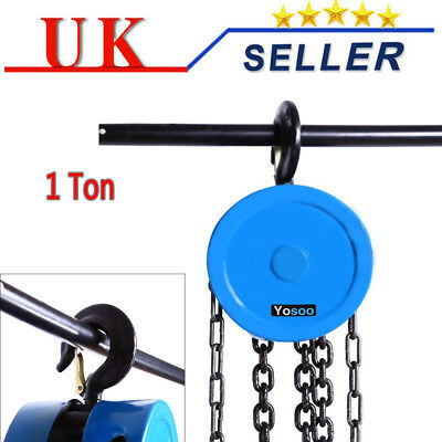 Heavy Duty 1 T Alloy Steel Chain Hoist Block Tackle Winch Engine Lifting Puller