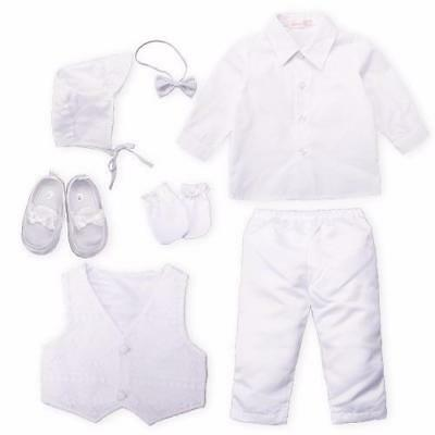Baby Christening Boy Trousers Sets Clothing gown Set Newborn Suit christening...