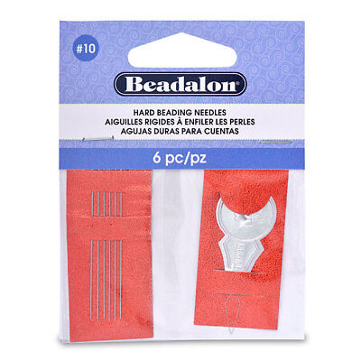 Beadalon Hard Beading Needles No.10 6 Pack