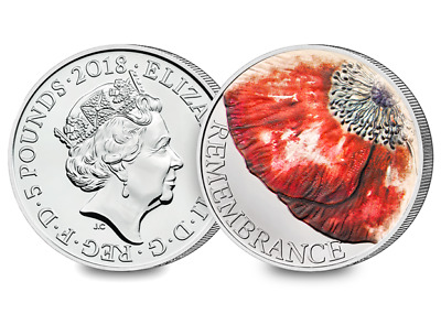 2018 Remembrance Day CERTIFIED BU £5 Coin [Ref H5BUC036]
