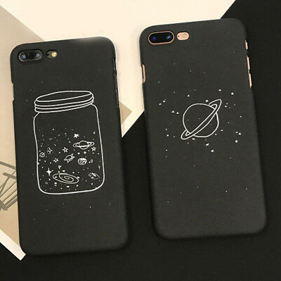 1PC Cute Cartoon Wishing Bottle Planet Moon Phone Case For iPhone 8 6 7 Plus X