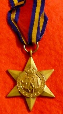 Burma Star is a Campaign Medal Issued to British Commonwealth Forces in WW2