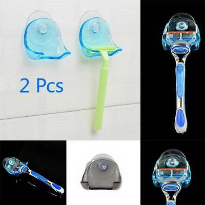 2 Shaver Washroom High Power Suction Cup Hook Razor Bathroom Toothbrush Holder