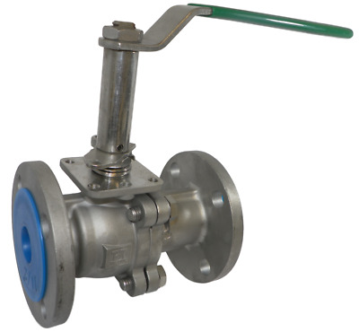 "Inline Industries CF8M 1.5"" Flanged Stainless Steel Ball Valve ANSI 150"