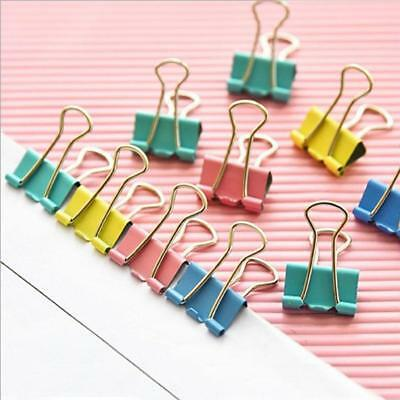 Multicolor Metal  File Paper Binder Swallowtail Clips Office School Stationery