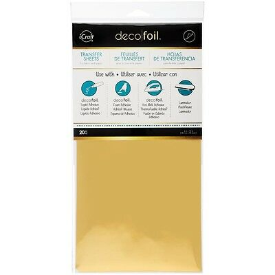 "Deco Foil Transfer Sheet 6""X12"" 20/Pkg - GOLD"
