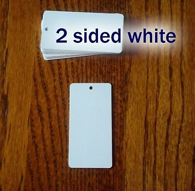 """2 Sided White Gloss 1.5""""x3"""" Aluminum Dye Sublimation Key Chain Blanks -50 Pieces"""