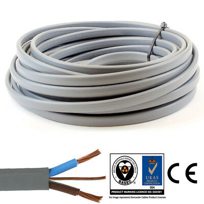 Twin and Earth Electric Cable 6242Y 4mm 2 Core Electrical Wire Lights Socket