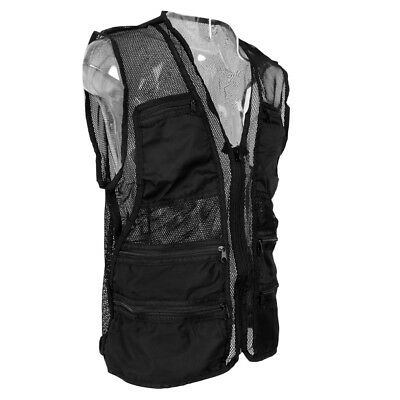 Outdoor Quick Dry Mesh Fly Fishing Vest Multi-Pocket Jacket Hiking Climbing