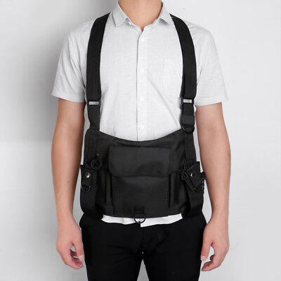 Universal Chest Pocket Harness Bag Holster Holder Vest Rig for Two Way Radio